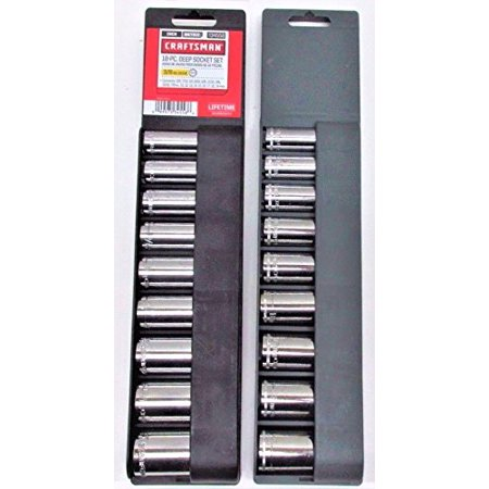 18 pc. 12 pt. Deep, 3/8 in. Socket Accessory Set - Metric & Standard, Get the tools you need to make short work of the toughest job By Craftsman Arroyo Craftsman Deer Mount