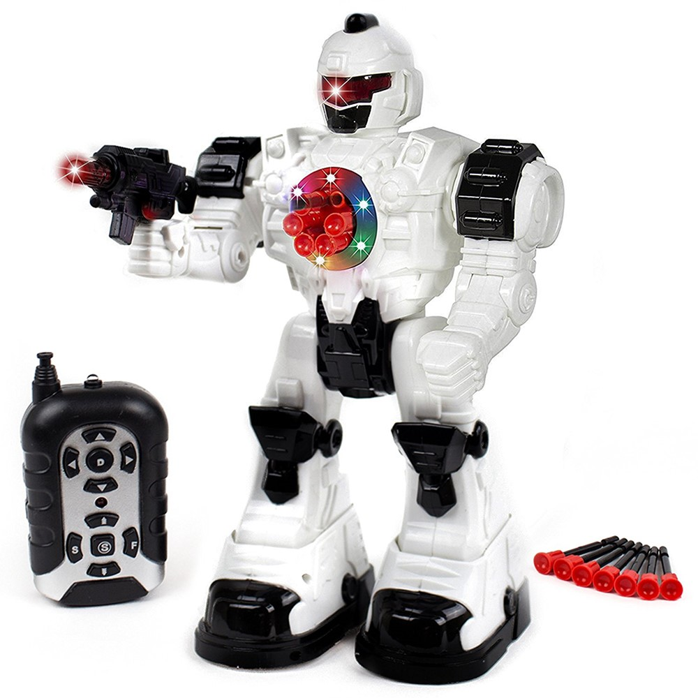 Toysery Remote Control Robot Police Toy for Kids Boys Girls with Flashing Lights and Robot... by