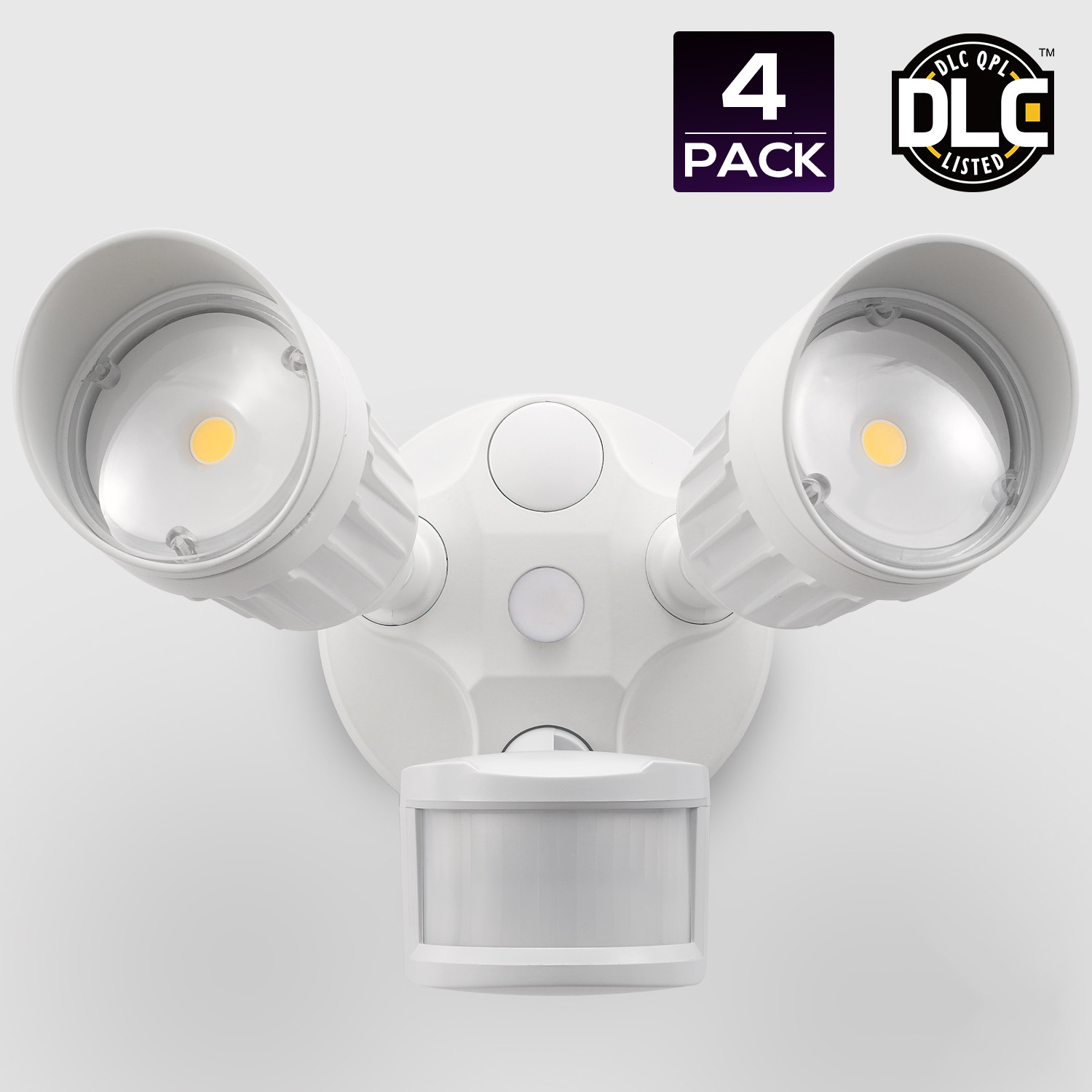 Dual-Head Motion Activated LED Outdoor Security Light, 20...