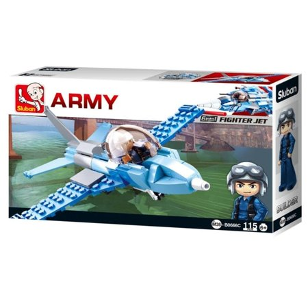 Sluban Kids Army War Craft Fighter Jet Building Blocks 115 Pcs set Building Toy Army Fighter Jet | Indoor Games for (Best Fighter Jet Game Iphone)