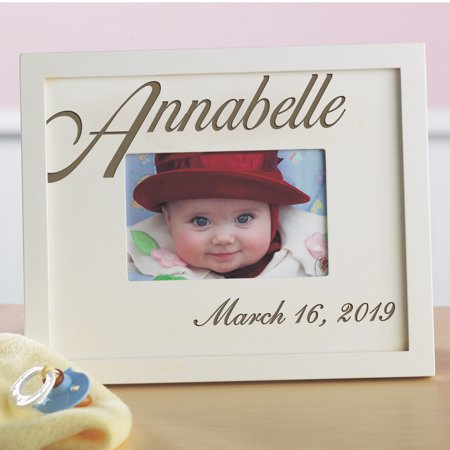 Personalized Script Baby Name Frame Alphabet Name Wood Frame