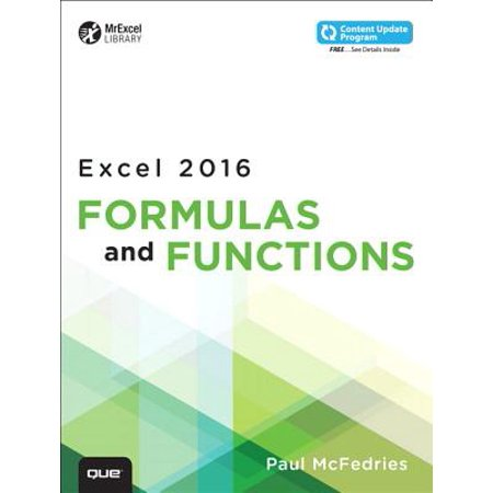 Excel 2016 Formulas and Functions (Includes Content Update