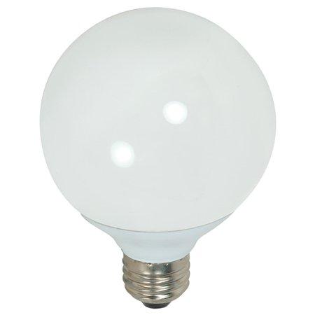 Satco Lighting S7306 Single 15 Watt G25 Shaped Medium (E26) Base Compact Fluorescent (4975ble 15 Single Light)