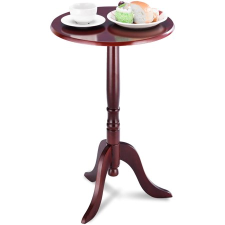Classic Home Accent (Gymax Classic Round Accent Table End Table Tea Side Table Home)
