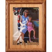 5X7 Jumbo ~ Me & My Mommy Portrait Picture Frame ~ Laser Cut Oak Veneer Mat With Fruitwood Frame