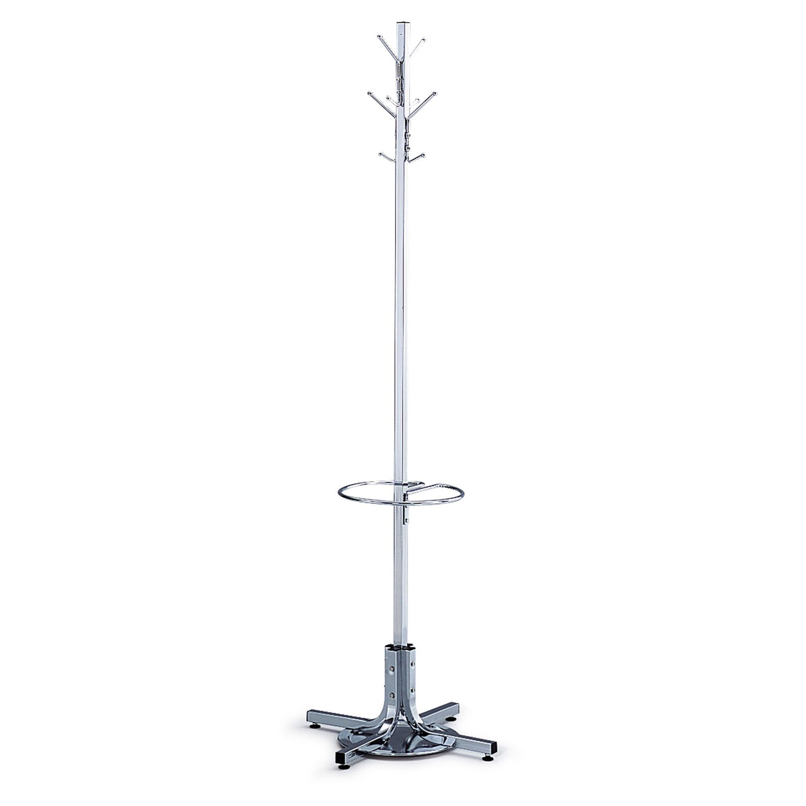 Safco Metal Metro Standing Coat Rack and Umbrella Stand