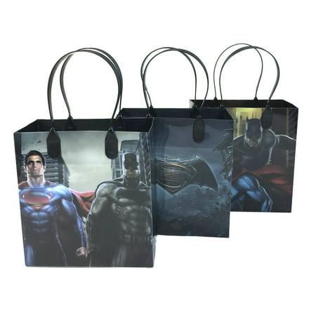 Marvel Batman v Superman Party Favor Gift Goodie Bag 12 Pack (Superman Party Pack)