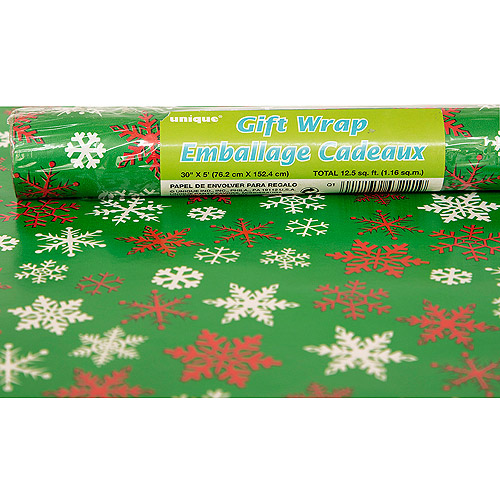 Snowflakes Holiday Wrapping Paper - Walmart.com