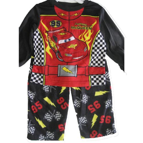 Cars Baby Boys Red Black Lighting McQueen Cartoon Themed 2 Pc Pajama Set 12-24M