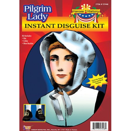 Pilgrim Lady Heroes in History Kit Halloween Accessory