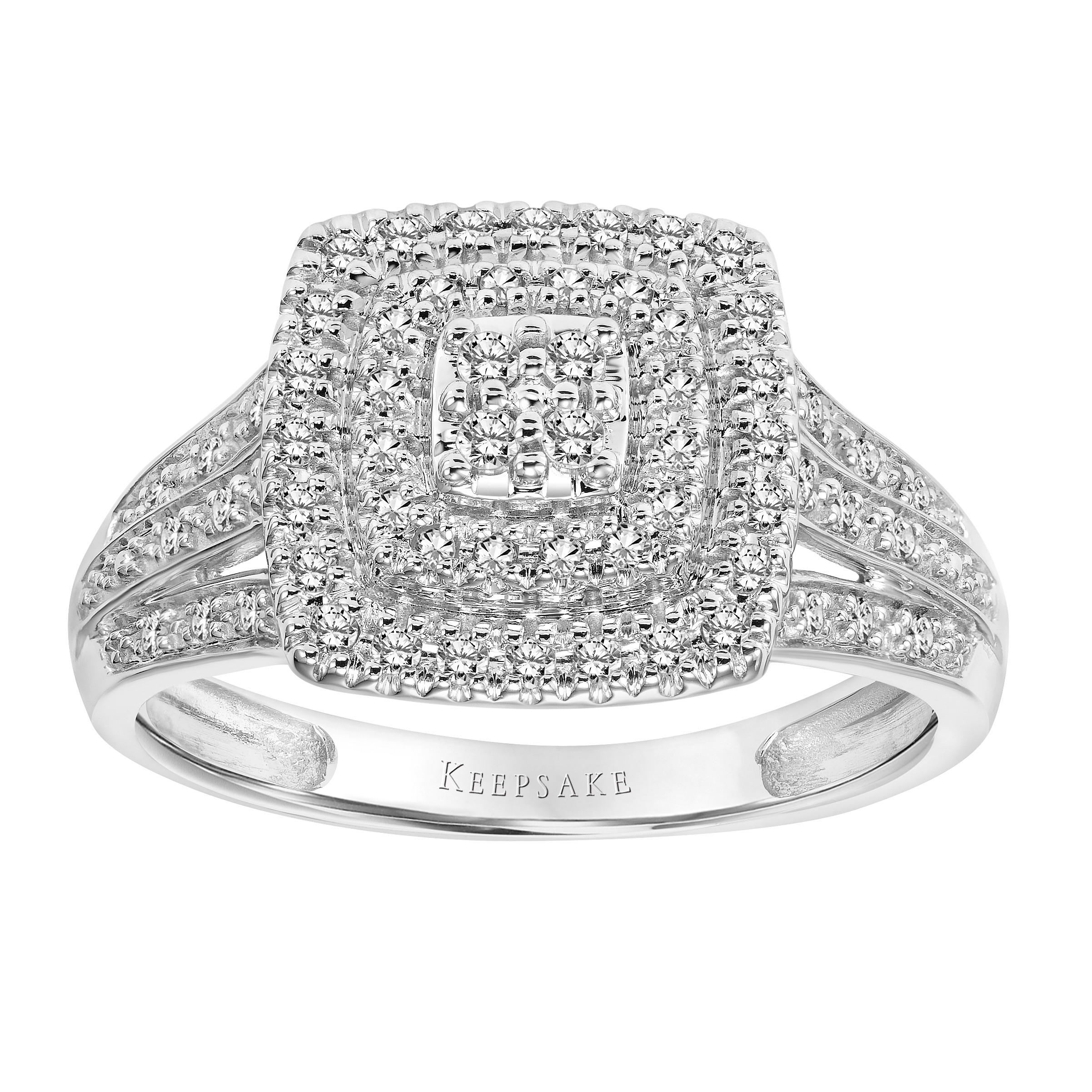 Keepsake Limited Edition 2017 1/3 Carat T.W. Certified Diamond 10kt White Gold Ring