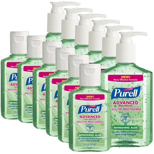 PURELL Advanced Refreshing Aloe Hand Sanitizer, Assorted Sizes, Pack of 12