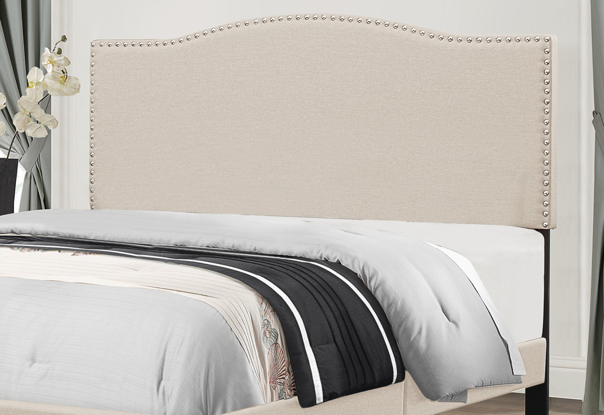 Hillsdale Furniture Kiley King Upholstered Headboard Fog Walmart Com Walmart Com