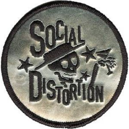 SOCIAL DISTORTION Skeleton Chrome PATCH, Officially Licensed Products Classic Rock, Iron-On / Sew-On, 3