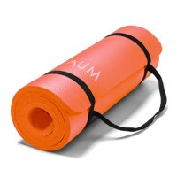 """aum high density hd foam tech yoga exercise mat - 72"""" x 24"""" x 1/2"""""""