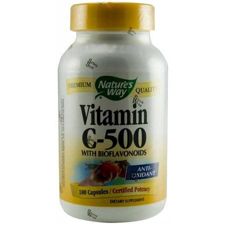 Vitamine C 500 avec bioflavonoïdes capsules 100 CT