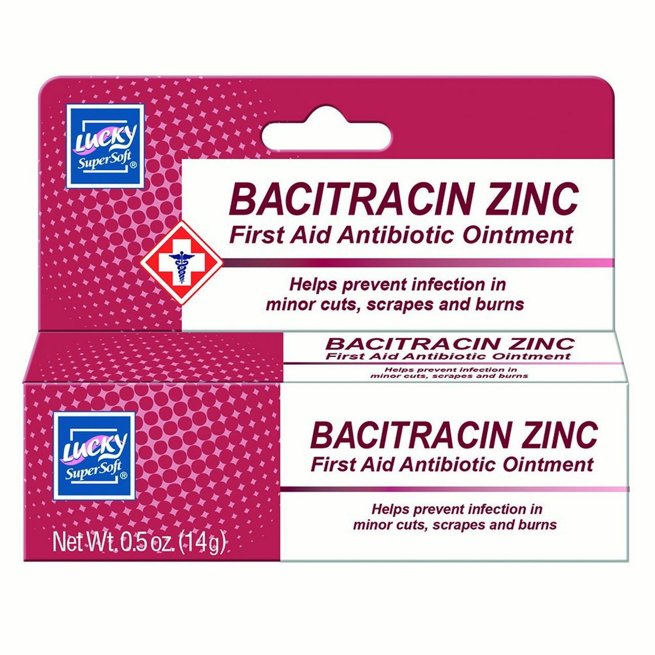 Lucky Super Soft Ointments, First Aid Antibiotic Ointment with Bacitracin, 0.5 Oz