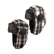 Nochilla (2 Pack) Trapper Hat Ear Flaps Faux Fur Winter Hats For Women & Men Fleece Lined Lumberjack Hat