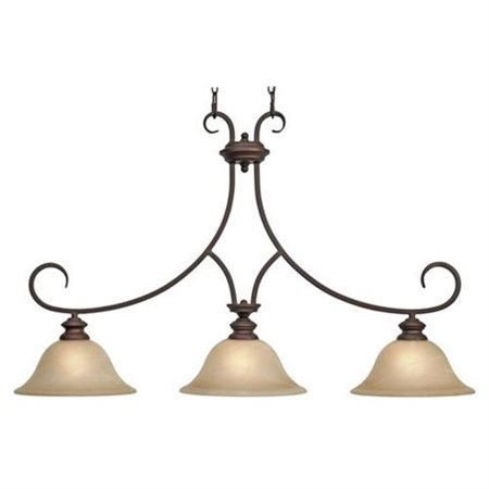 Lancaster Island Light in Rubbed Bronze ()