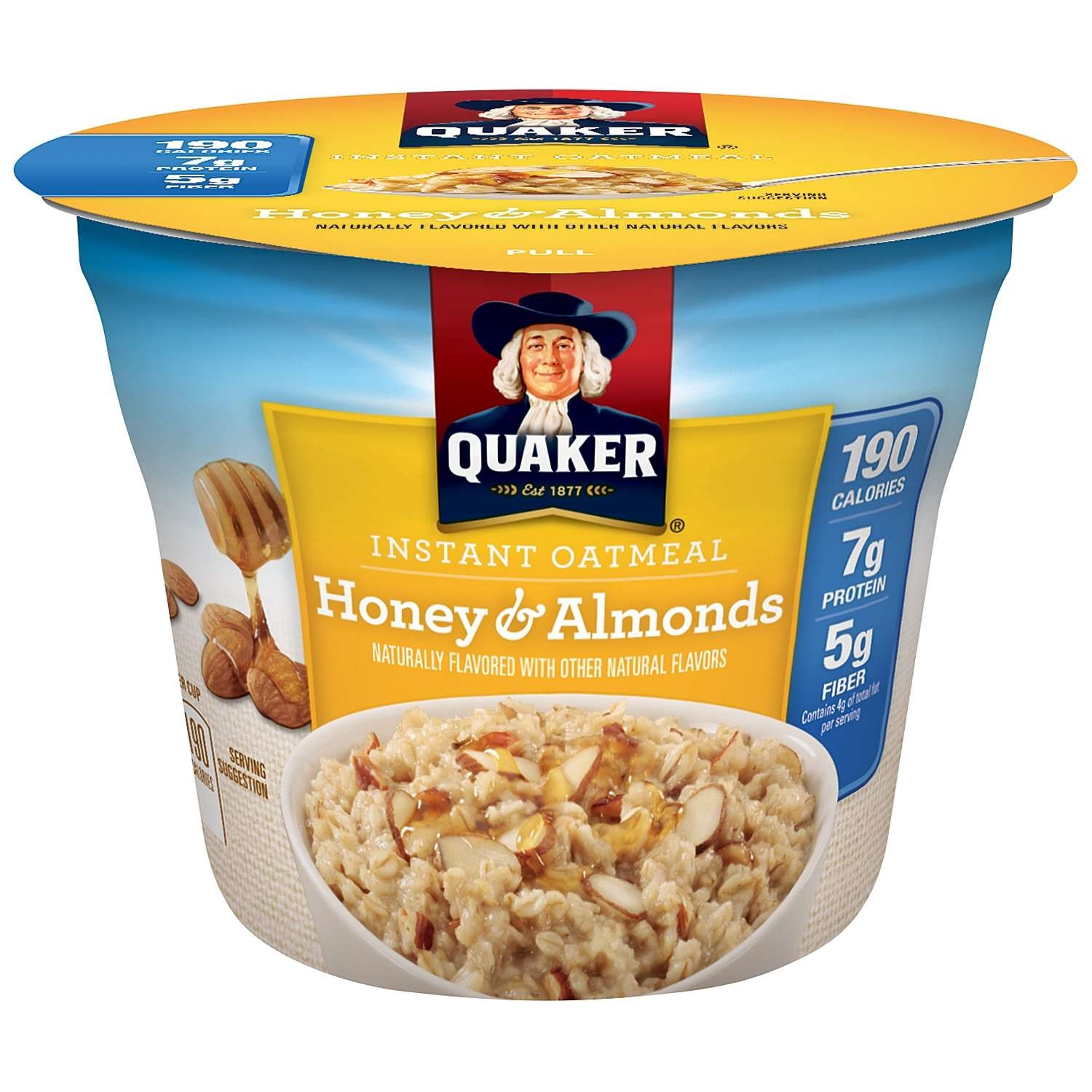 Quaker Instant Quaker Oatmeal Express Cups, Honey Almond Weight Control, 1.76 Oz (Pack of 12)