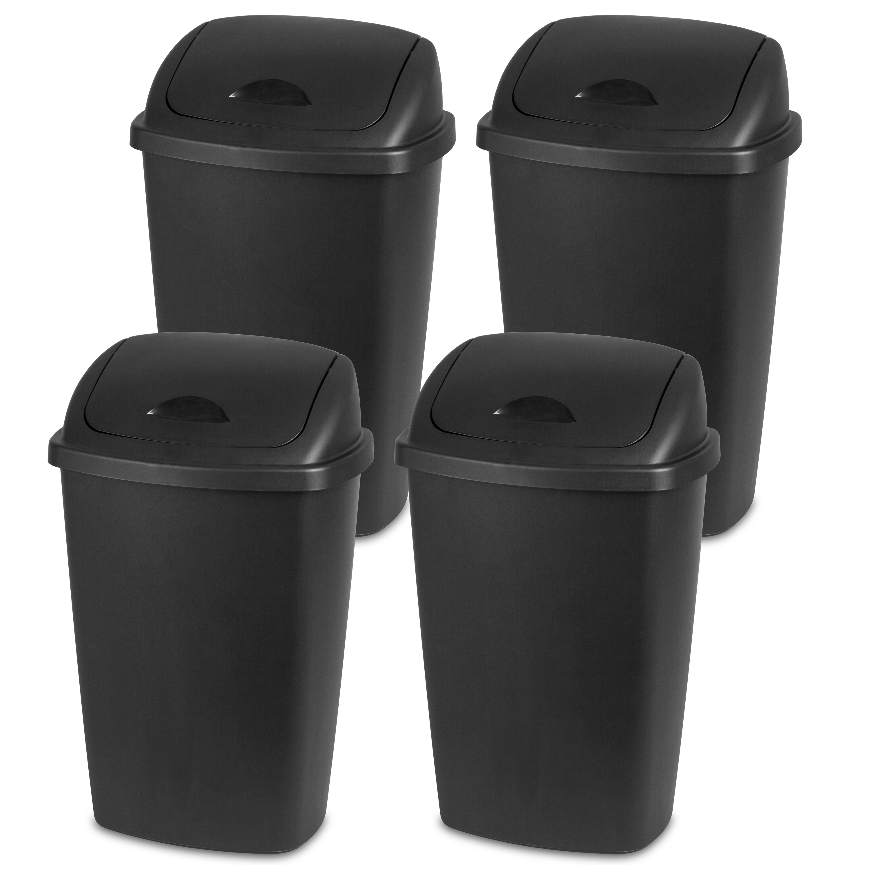 Sterilite 13.2 Gallon Swingtop Wastebasket- Multiple Colors (Available in Case of 4 or Single Unit) by Sterilite