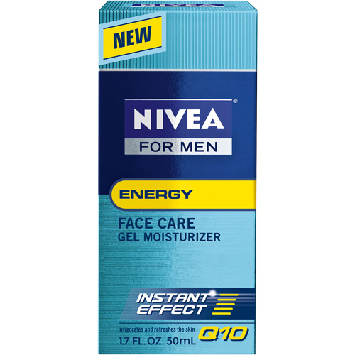 Nivea For Men Energy Q10 Face Care Gel Moisturizer, 1.7 oz