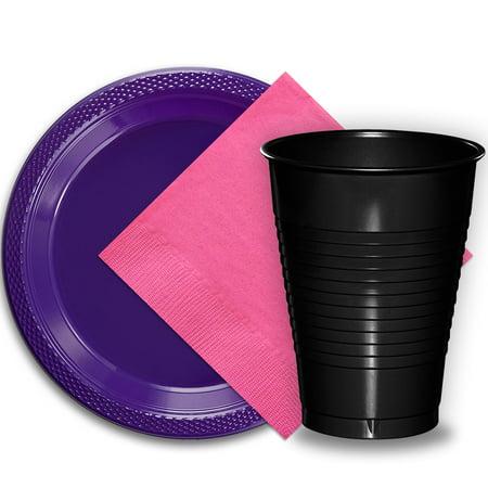50 Purple Plastic Plates (9