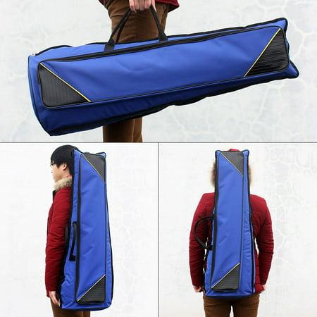 600D Water-resistant Trombone Gig Bag Oxford Cloth Backpack Adjustable Shoulder Straps Pocket 5mm Cotton Padded for Alto/Tenor Trombone - image 1 de 1