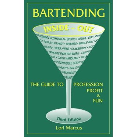 Bartending Inside-Out - eBook This concise reference offers those who have chosen bartending as their primary profession-as well as those whobartend part-time-the tools to achieve success. In addition to teaching the basics-how to pour; the differences between the vast array of gins, scotches, tequilas, and vodkas; how beer, wine, and spirits are made; and which glassware to use for each beverage-the guide provides critical information on the nuts and bolts of customer service, checking IDs, dealing with intoxicated customers, tipping, and inspiring a bar crew to work as a team. Includinga glossary of common bar terms and recipes for more than 125 cocktails this third editionfeatures updates in bartending practices and expanded coverage of the myriad tequilas, beers, and ales in vogue.