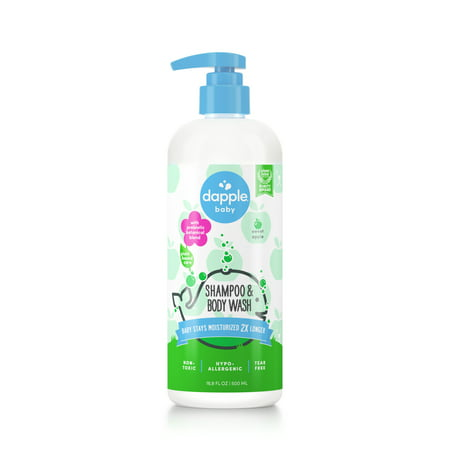 Dapple Baby Plant Based Shampoo & Body Wash, Sweet Apple, 16.9 oz.