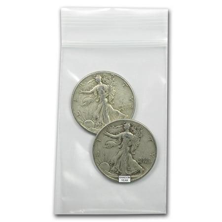 $1.00 Face Value 90% Walking Liberty Half Dollars Avg (1987 Walking Liberty Silver Dollar Value Chart)