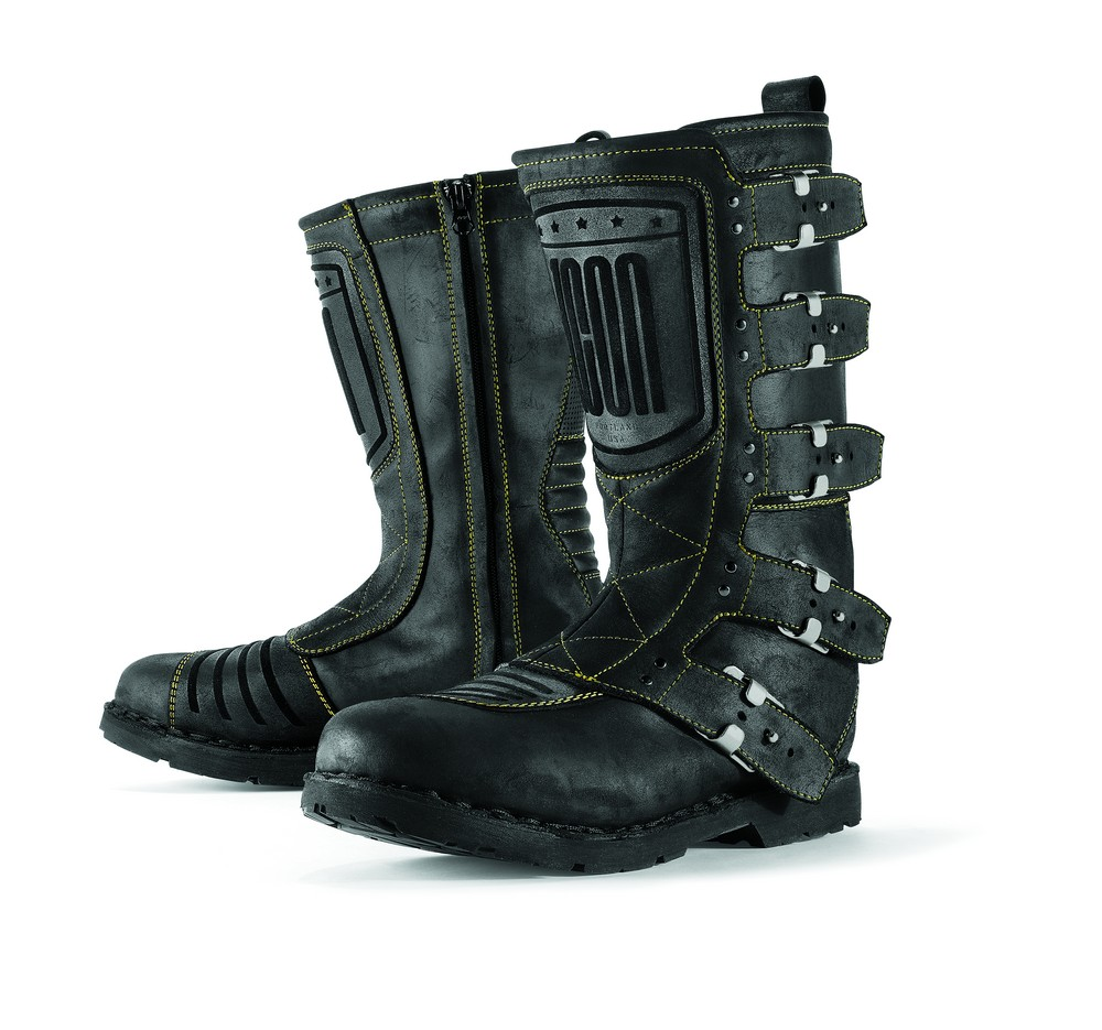 Icon 1000 Elsinore Leather Street Boots Johnny Black
