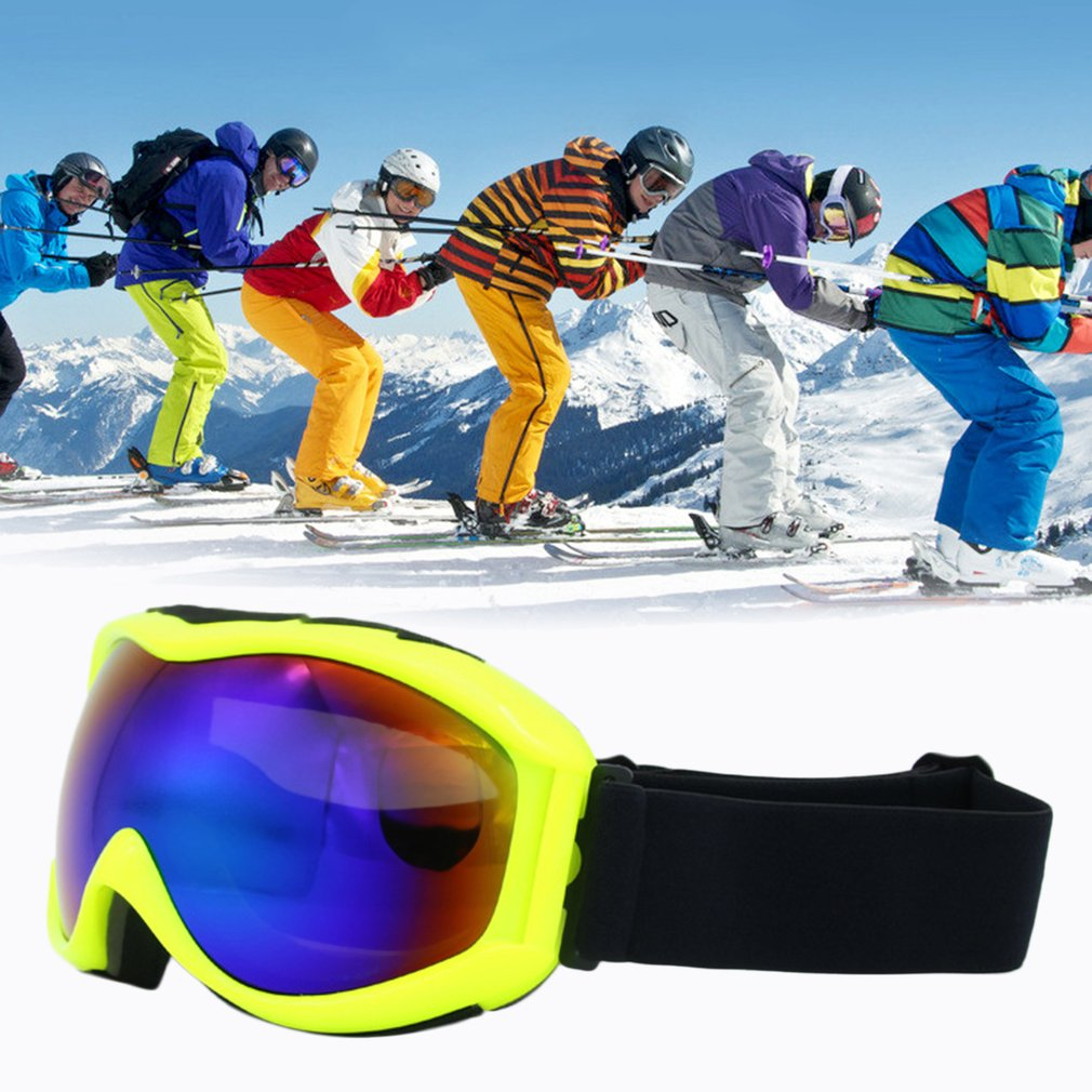Skiing Goggles TS-013 Double Lens UV400 Anti Fog Unisex Snowboard Ski Glasses by