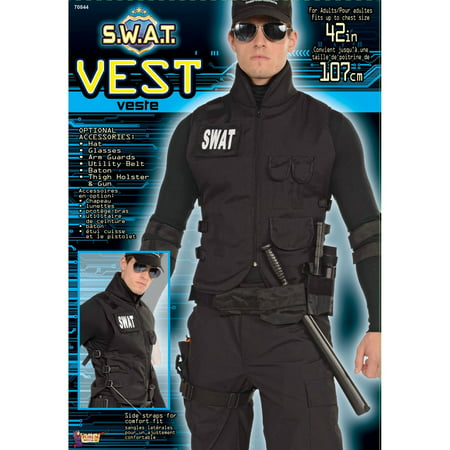 Halloween S.W.A.T. Vest Adult Costume - Swat Costumes For Adults