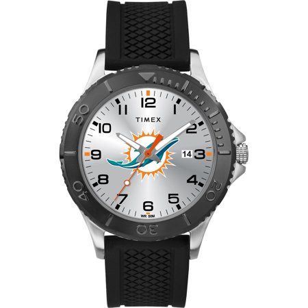 Timex - NFL Tribute Collection Gamer Black Men's Watch, Miami Dolphins
