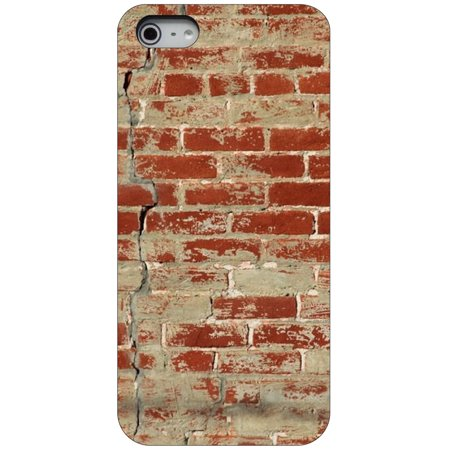 CUSTOM Black Hard Plastic Snap-On Case for Apple iPhone 5 / 5S / SE - Old Red Brick (Bricks Protector Case)