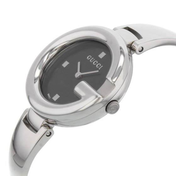 ab3224a7244 Gucci - Guccissima Black Dial Stainless Steel Ladies Watch YA134301 ...