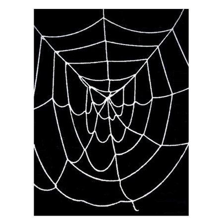 SeasonsTrading 9.5' ft Deluxe Giant Spider Web (Black) - Halloween Decoration