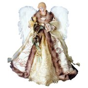 Antique Gold Angel Tree Topper - 16""
