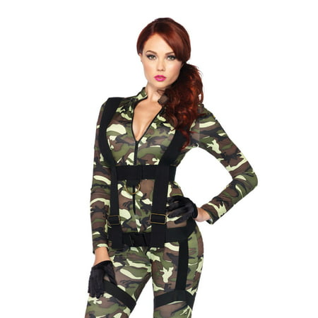 Leg Avenue Women's Pretty Paratrooper Costume - Pretty Paratrooper Halloween Costume
