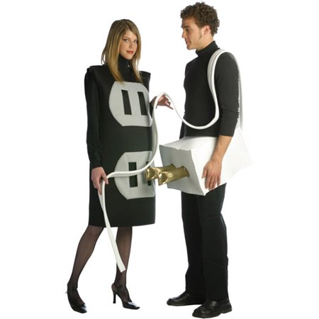 Plus Size Plug and Socket Couples Costume - Men Adult Costumes
