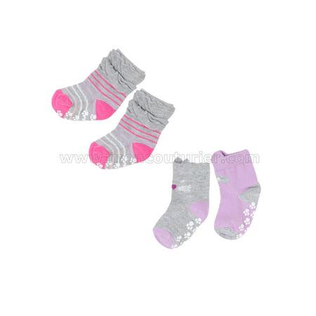 Deux par Deux Girls' Socks Fluffy Friends, Sizes 18M-6 - 18/24M - image 1 of 1