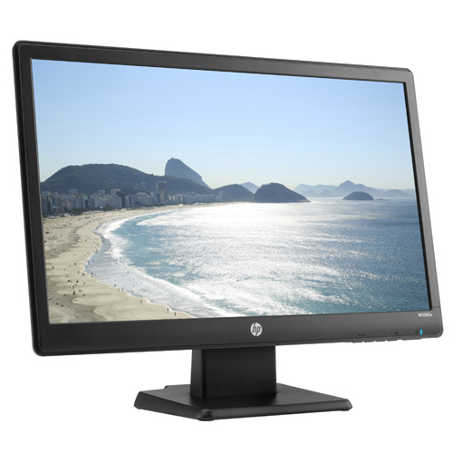 "HP W2082a 20-inch LED Backlit Monitor HP W2082A 20"" LED LCD Monitor - 16:9 - 5 ms - 1600 x 900 - 200 Nit - 10,000,000:1 - HD+ - Speakers - DVI - VGA - Black - TÜV"