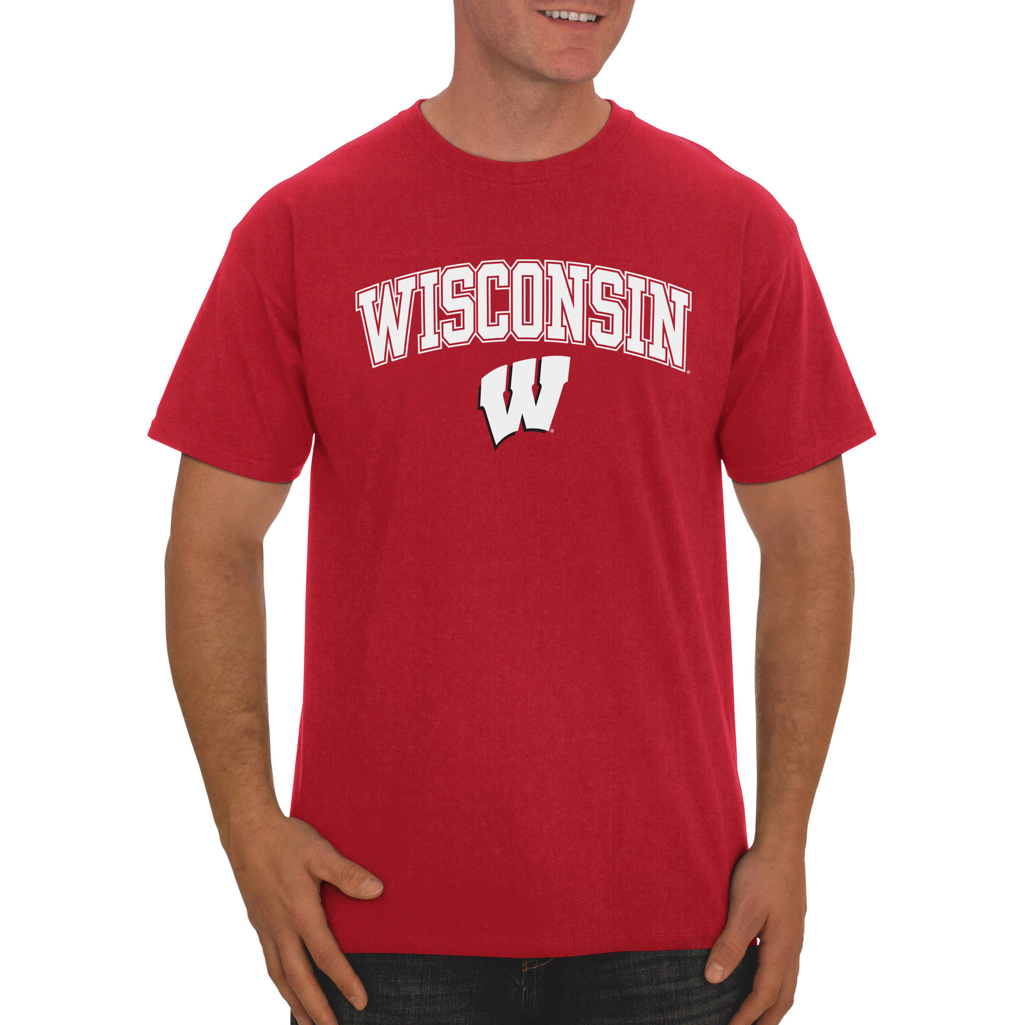 Russell NCAA Wisconsin Badgers Men's Classic Cotton T-Shirt