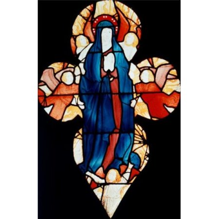 Madonna Glass - Posterazzi SAL9007726 Madonna Stained Glass Poster Print - 18 x 24 in.