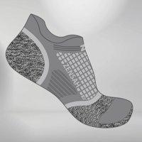 Zensah Grit Running Socks ™ (No-Show) L / Grey