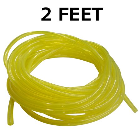 Clear Yellow Fuel Line, 1/8 x 1/4, .125 x .250 for Craftsman, Ryobi, Poulan, Weedeater 2 Feet 0.125 Fuel Line