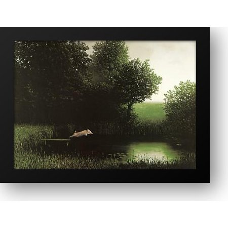 Diving Pig 32x24 Framed Art Print by Sowa, Michael for $<!---->