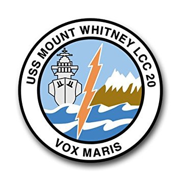 Mount Whitney Ship (US Navy Ship USS Mount Whitney LCC-20 Decal Sticker 3.8