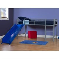 DHP Junior Metal Twin Loft Slide Bed
